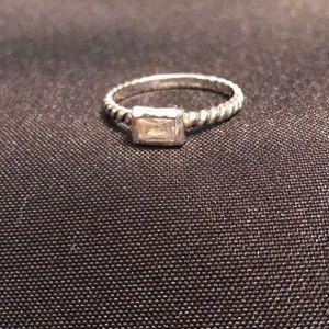 SILPADA .925 Sterling & CZ Belle Fleur Rope Ring